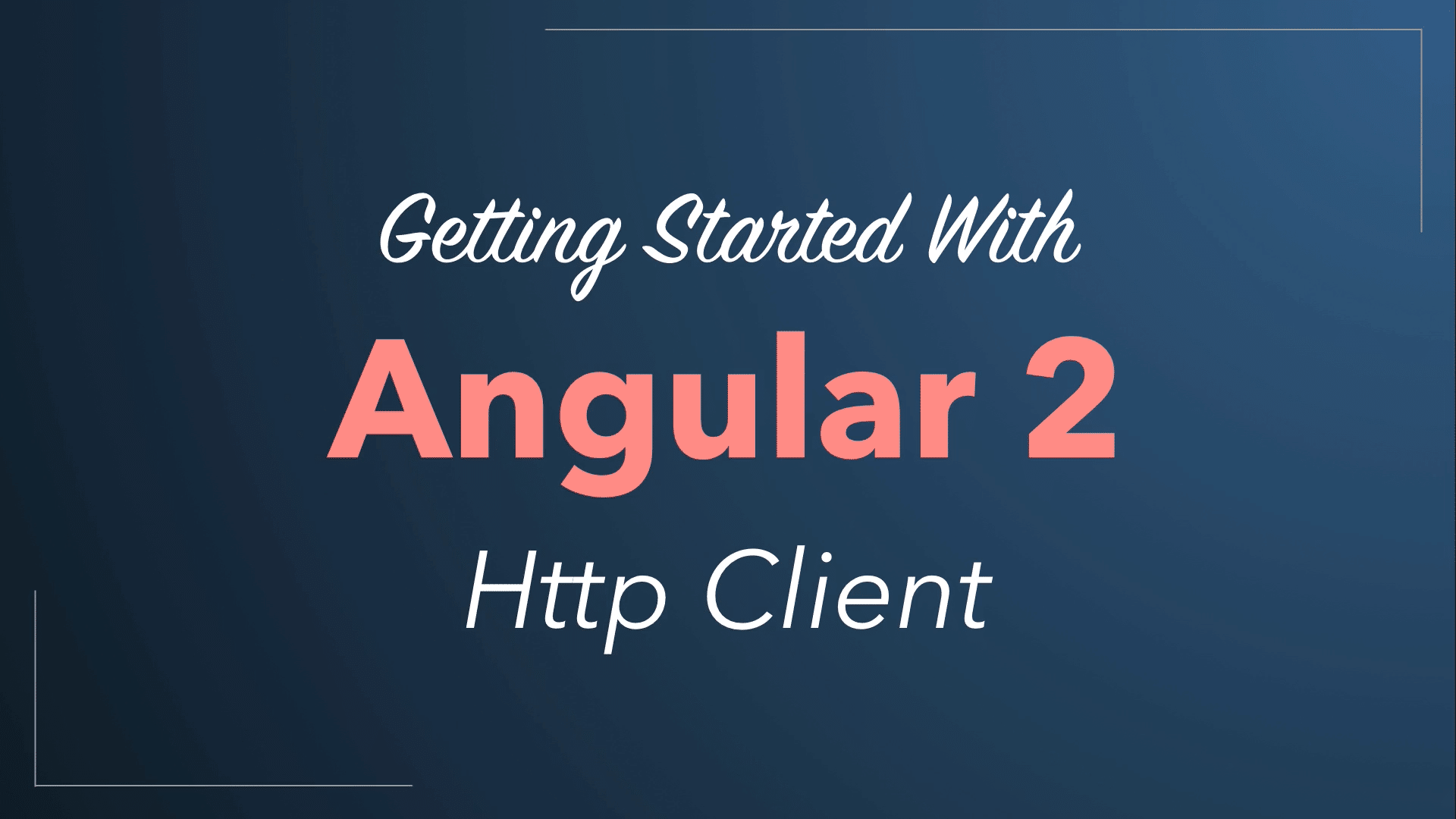 Angular 2 Http Client (Accessing REST Web Services) Quickstart Tutorial 2016