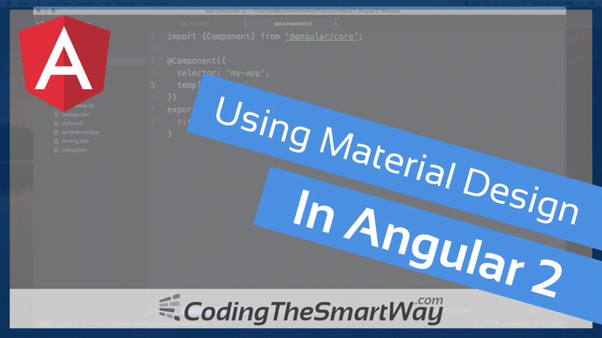 Using Material Design In Angular 2
