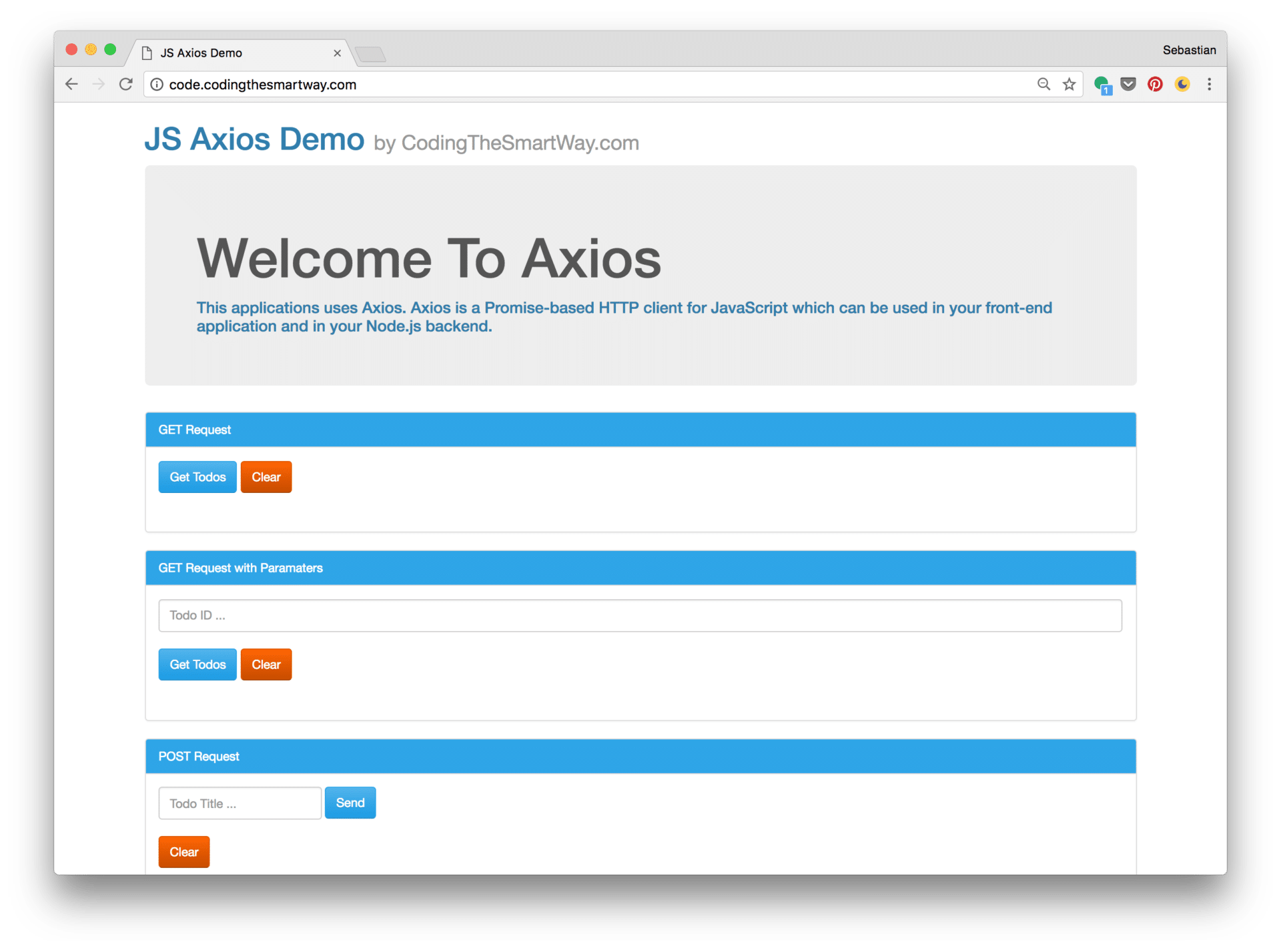 Getting Started With Axios - CodingTheSmartWay com