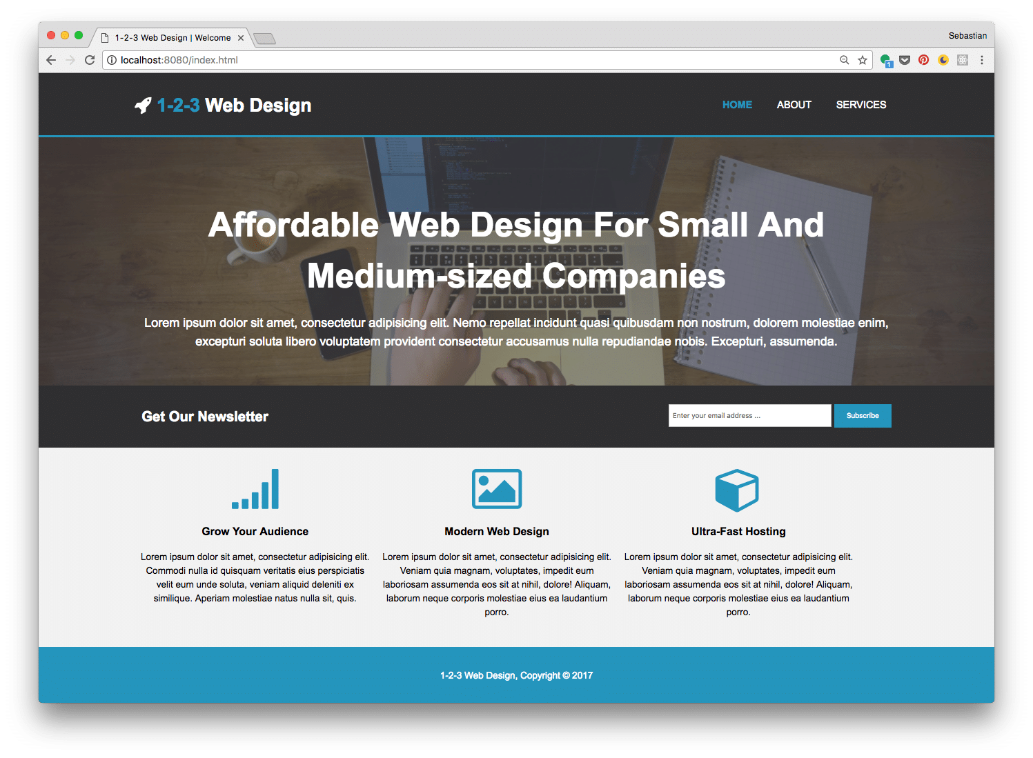 Build A Real World Html5 Css3 Responsive Website From Scratch Codingthesmartway Com