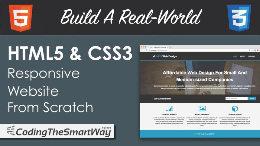 Build A Real-World HTML5 & CSS3 Responsive Website From Scratch