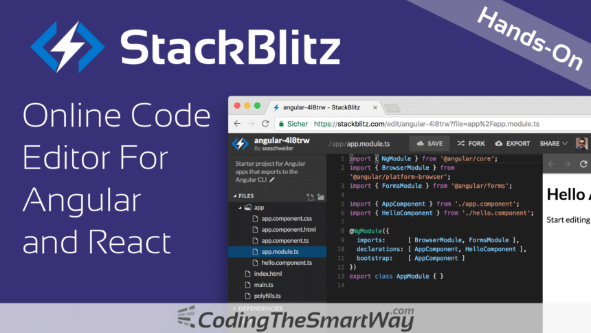 StackBlitz – Online Code Editor For Angular and React