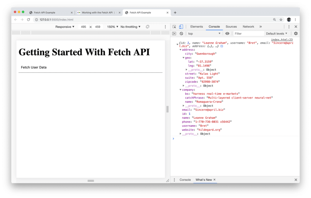 Fetch API - Introduction To Promised-based Data Fetching In